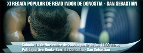 XI Regata Popular de Remo Indoor de Donostia - Logo